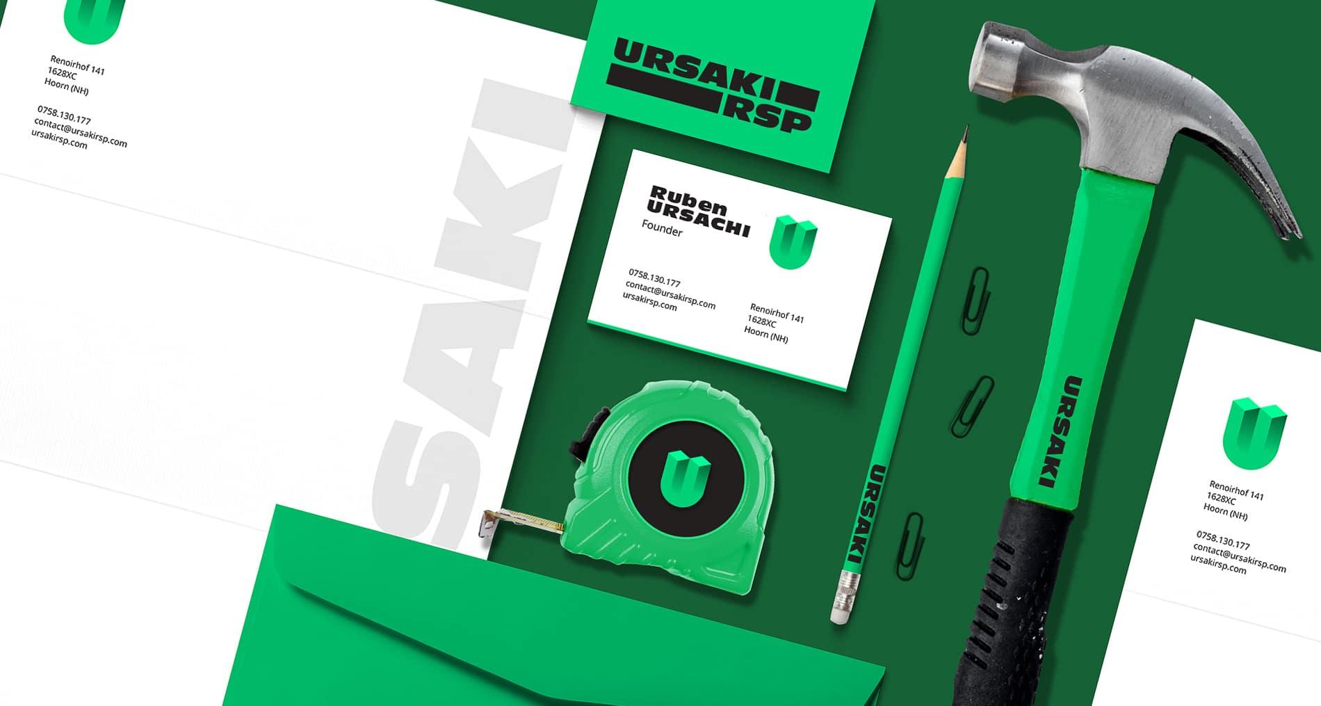 URSAKI Logo Design Constructii