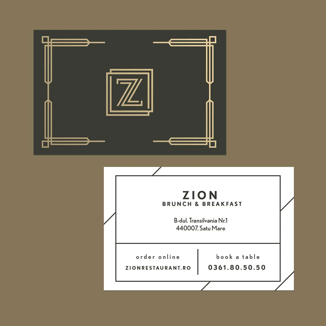 Carte De Vizită Zion Bistro